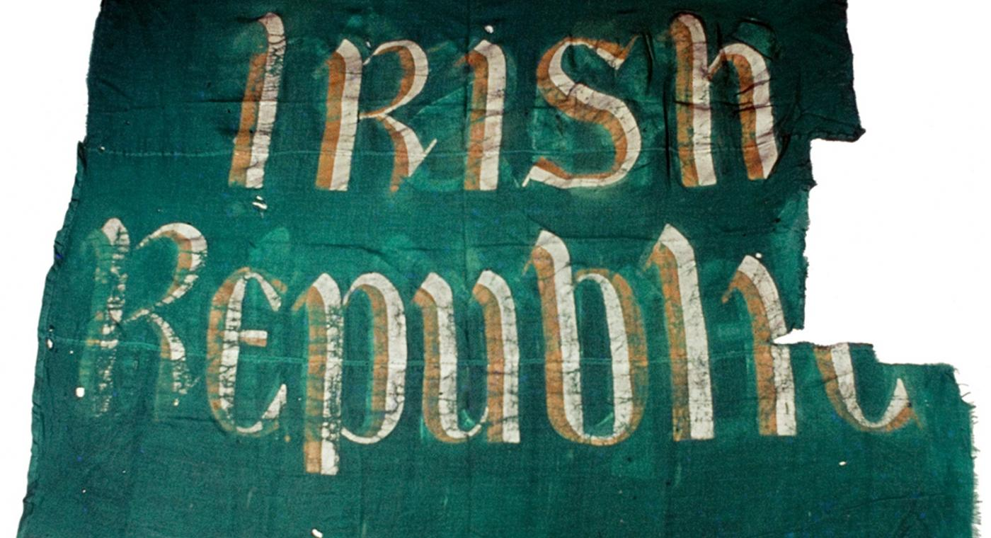 Irish Republic Flag, 1916. HE-EW-3224. © National Museum of Ireland