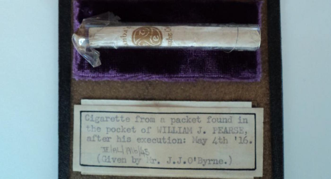 Cigarette from Willie Pearse's pocket
